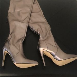 Shoe Dazzle Shoes - Shoe Dazzle Neysa Tall Boot in Gunmetal size 9